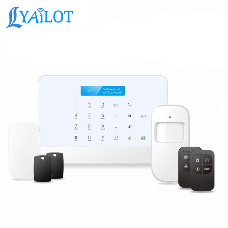 Tuya casa inteligente GSM WIFI inteligente de alarma inalámbrica gsm sistema de alarma antirrobo casa