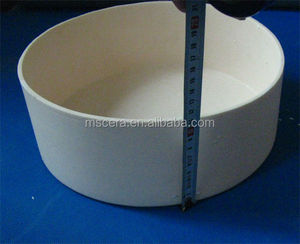 High Temperature Resistance 99.7% High Alumina Crucibles Ceramic