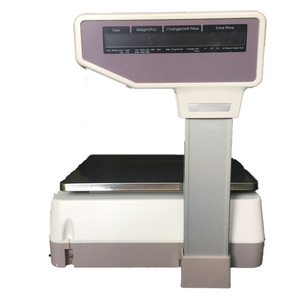 thermal label printer weight scale mat digital scale with printer