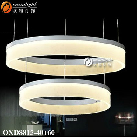 modern Acrylic three round ring circle led pendant light OXD8815