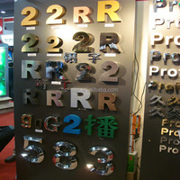 304 Stainless Steel Metal Door Numbers Letter Cut Out Sign