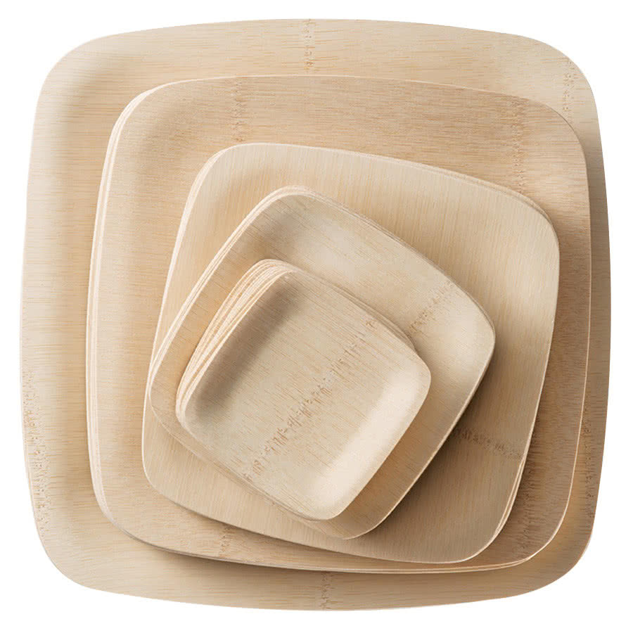 Eco-fiendly Disposable Compostable Bamboo Snack Plate  sc 1 st  Alibaba & Eco-fiendly Disposable Compostable Bamboo Snack Plate - Buy Bamboo ...