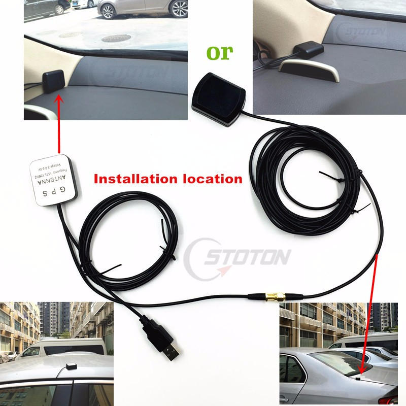 External gps antenna amplifier to solve car navigation