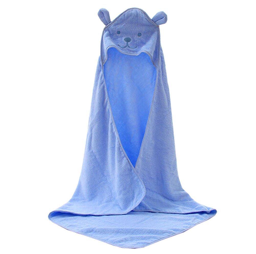 Blancho Bedding Baby Soft Cotton Breathable Bath Towel Kids Bathcloth Cloak Bathrobe 0-7 Years(Blue)