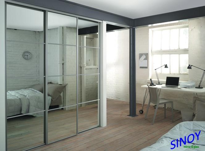 Alta alluminio riflettente specchio spogliatoio specchio