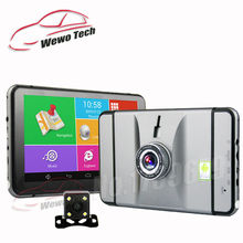 7 inch Car DVR GPS Navigation Android 1080P DVR Recorder 512Mb 8Gb Truck Vehicle Gps Navigator With Rear View Camera Free Maps