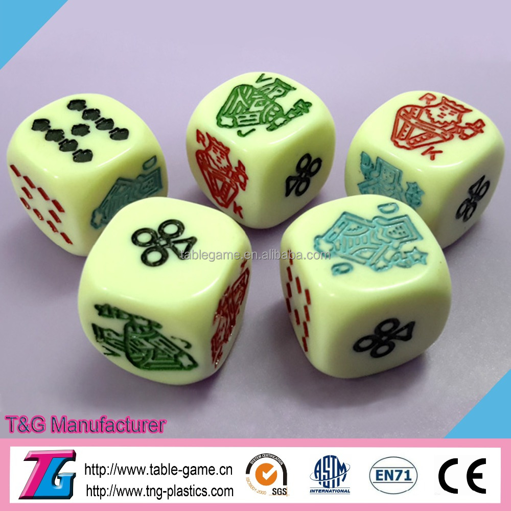 High quality custom colorful board game dice