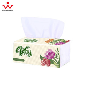 Pink flower language facial tissue soft pack,paper towel