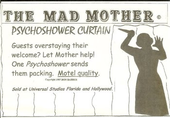The Mad Mother Psycho Shower Curtain