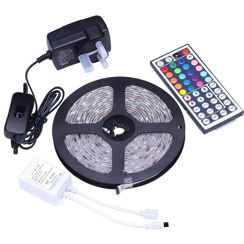 44 키 IR 원격 컨트롤러 방수 5 메터 5050 SMD RGB Led 스트립 조명-LED ...