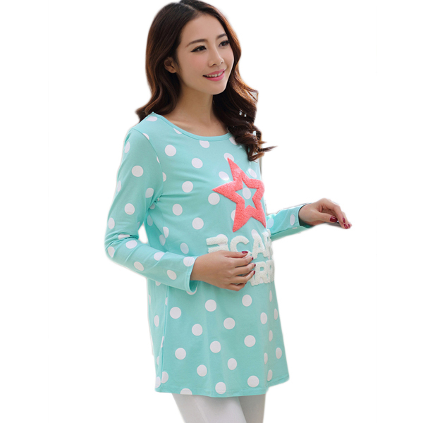 66296a0fc0 Get Quotations · Maternity Blouses T shirts Long-sleeved T-shirts for Pregnant  Women Autumn Spring Cute
