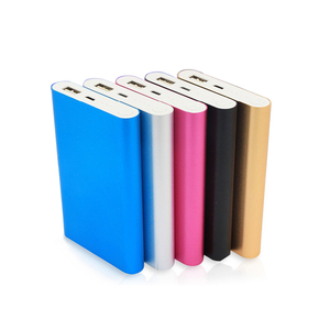 Fashion colorful aluminum case power bank phone power charger20000mah