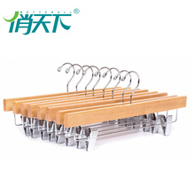 Factory wholesale hotels wooden clothes hanger weight coat rack for suit
