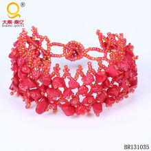 fashion jewelry red coral bracelet