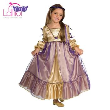 307414a49d4e Halloween Party Medieval Kids Costumes Juliet Princess Fancy Dress ...