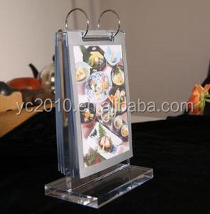flip over table stand acrylic menu holder for restaurant bar hotel