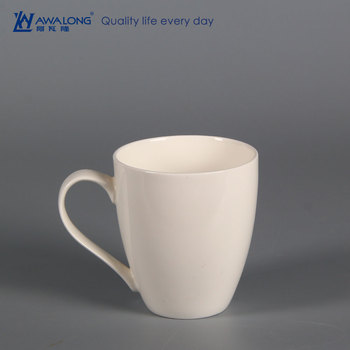 560ml Large Capacity Pure White Custom Coffee Mug For Nescafe Fine Porcelain