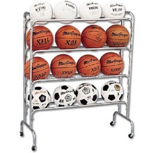 gym ball rack basketball display rack bowling ball rack