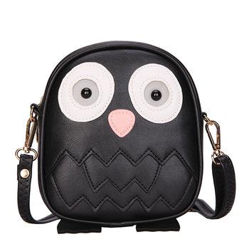4e6338e97a8b ZOGIFT новый модный клатч Сумки Сова кожаная сумка с длинной цепочкой