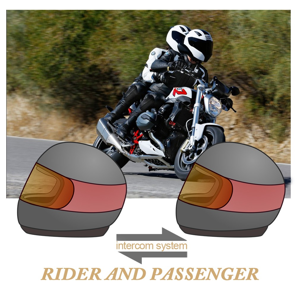 High Quality Freedconn T-COM02S Motorcycle Bluetooth Helmet intercom for Rider and Passenger