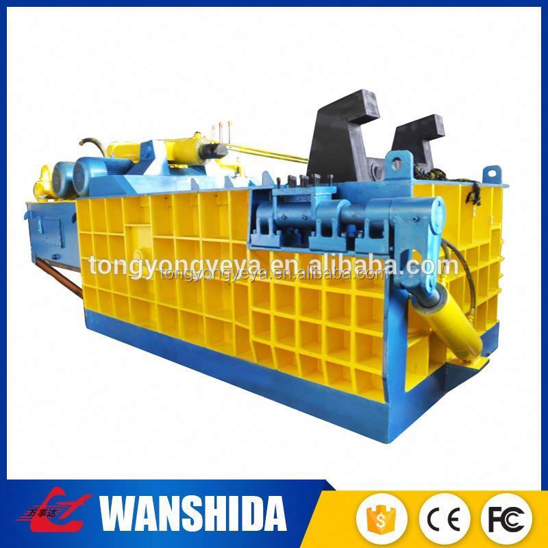 horizontal cardboard totally auto mode compress baler machine