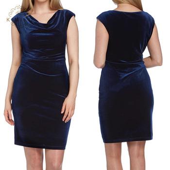 852ec607345b17 Sleeveless Royal Blue Velvet Short Women Dresses - Buy Short Sleeve ...