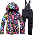New Cheap Snow suit sets Women Snowboard Clothes Waterproof Windproof 30 Warm Winter Coat Ski suit