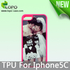 TPU material sublimation phone case for iphone 5C