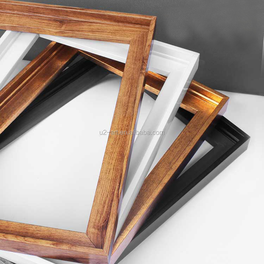 Wholesale PS Floating Canvas frame Wood Picture Frames for Home Decor
