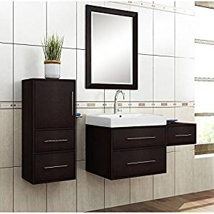 Willow Creek Cabinets 54-Inch Fresco Vanity Set with Wall Hung Linen Tower and Drawer Box