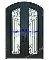 front wrought iron double door design steel front main entry door safety double door