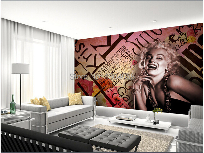 online kaufen gro handel marilyn monroe wallpaper aus. Black Bedroom Furniture Sets. Home Design Ideas