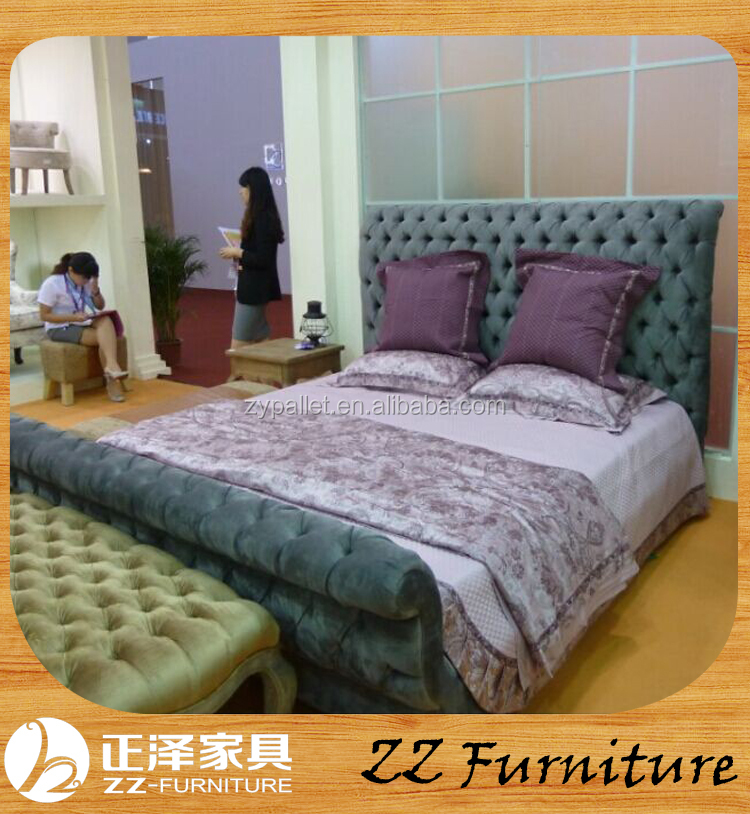 French style royal home use furniture antique wooden bedroom set