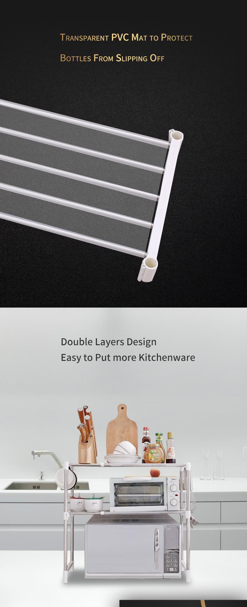 Küche Regal Für Mikrowelle Edelstahl Rahmen Mikrowelle Rack - Buy ...