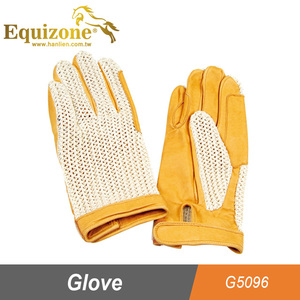 Leather Horse Riding Glove with Mesh Back