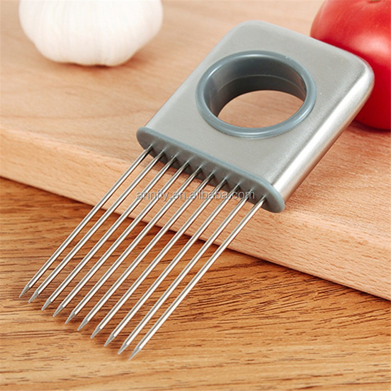 Kitchen Cutting Tools Onion Tomato Holder Slicer Meat Tenderizer Stainless  Steel Kitchen Vegetable Tool Gadgets Cooking - Buy Kitchen Cutting ...