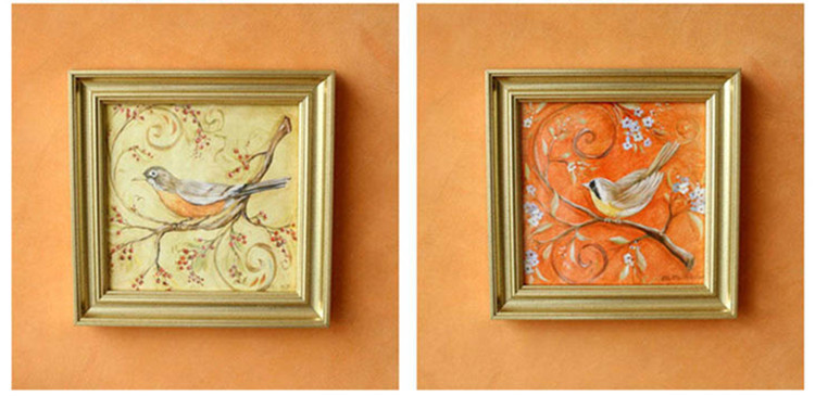 Popular golden painting wood frames for home decorative