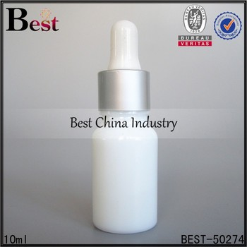 10ml White Glass Essential Oil Bottles With Matte Silver Collar ...