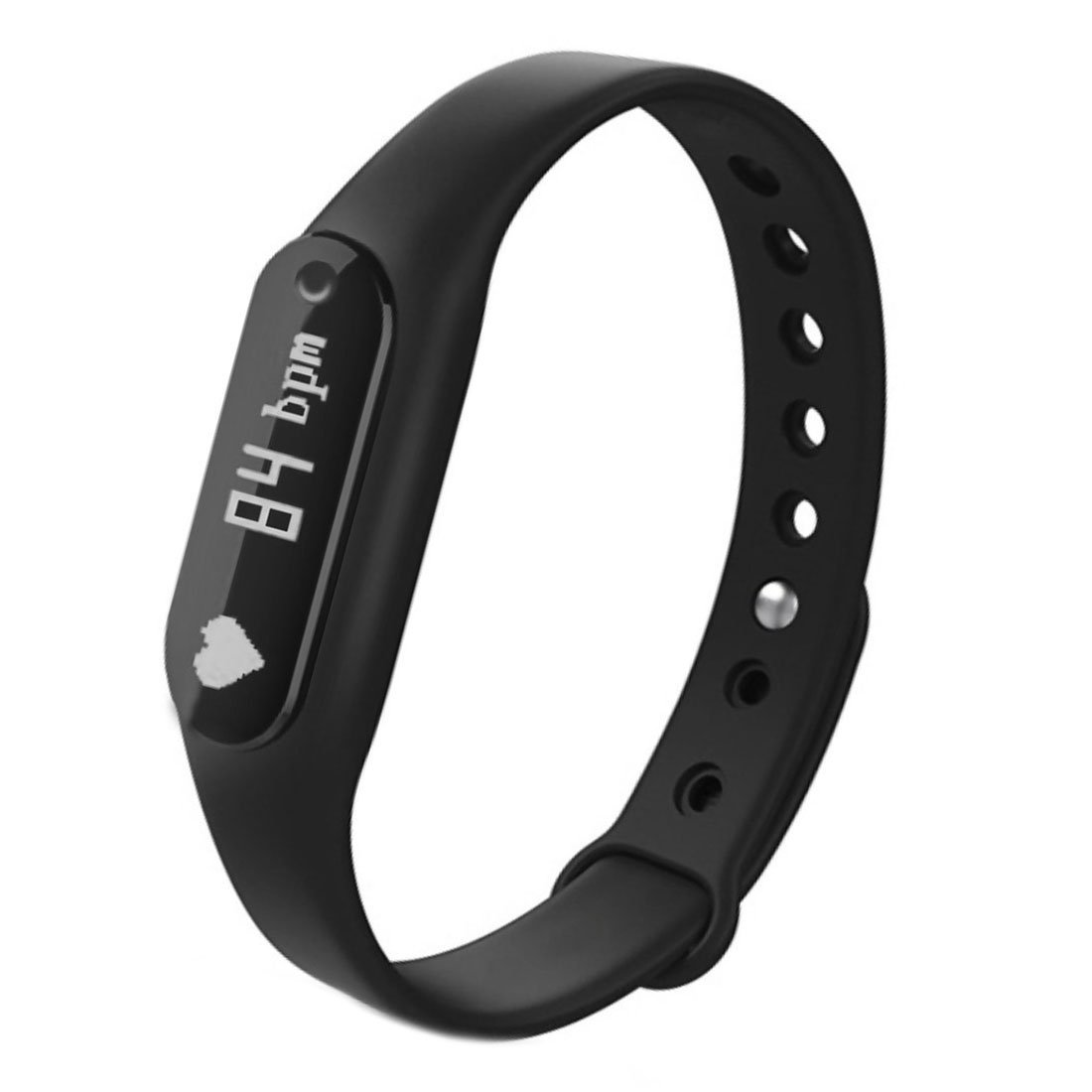 Bestseller2888 Smart Band Heart Rate Monitor/ Smartband/ Smart Wristband/ Smart Bracelet Fitness Wearable Activity Tracker/ Waterproof Bluetooth Health Fitness Band-Black