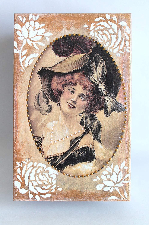 Jewelry box, keepsake box, Mother's day gift idea, birthday gift, vintage decor, gifts for her, shabby chic decor, vintage look, birthday present, wooden box, keepsake box