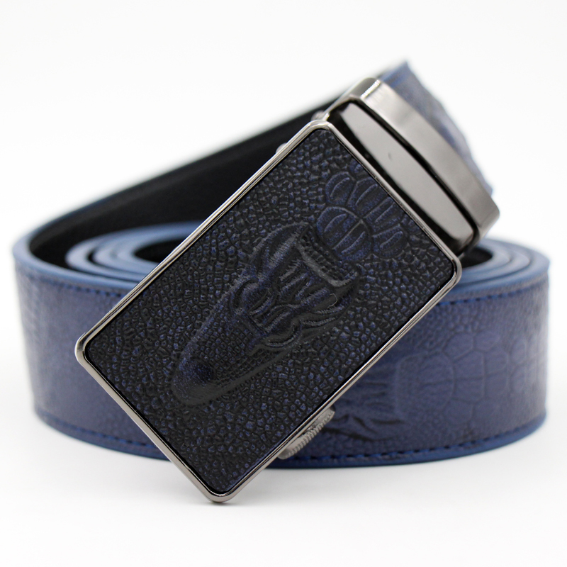 designer brand belts kapb  Fashion Alligator Men Belt,Genuine Leather belt for men,Crocodile  Pattern mens belts luxury