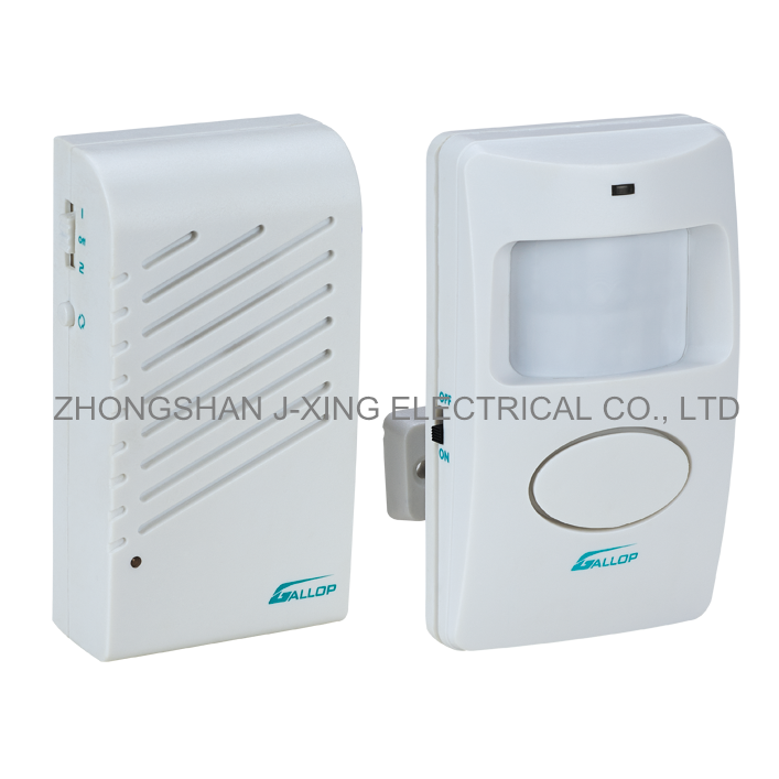 Multi-purpose Wall Mounting Type Battery Operated Wirless Infrared Sensor Doorbell