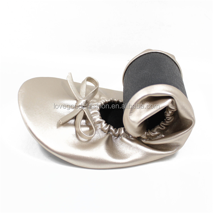 Roll Up Flexible Foldable Casual Ballet Shoes