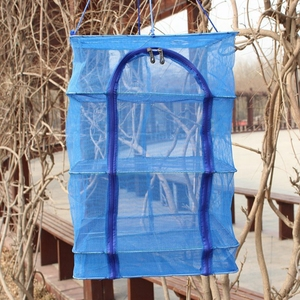 Outdoor Hanging Drying Tableware Food Dry Net 3 Layer Shelf Hang Cage Fish RackS