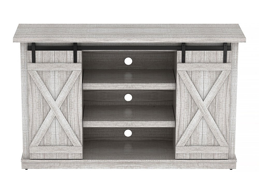 Comfort Smart Wrangler Sliding Barn Door TV Stand, Sargent Oak