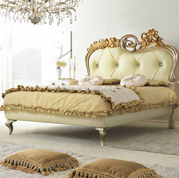 tufted bedroom furniture. Royal Elegant Italian Style Carving Golden Floral Tufted Bed, Luxury Classic Solid Wood Bedroom Furniture O