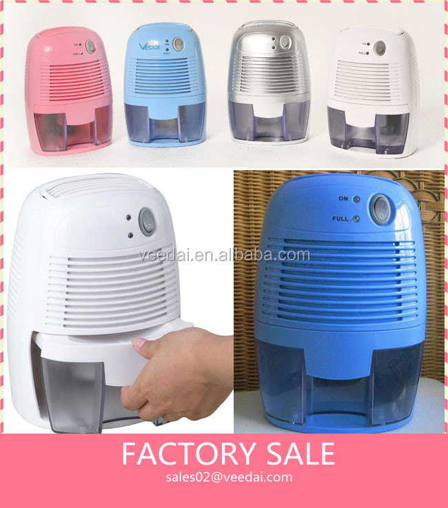 Bucket Full Indicator Light Function and Desiccant Dehumidifier Type cordless reusable mini dehumidifier ETD250