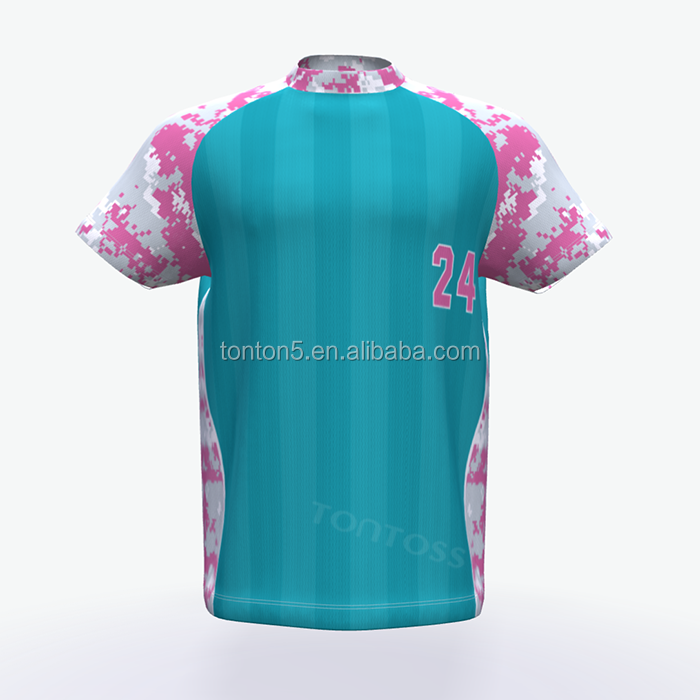 Sublimatie custom jeugd honkbal jerseys cricket team jersey ontwerp