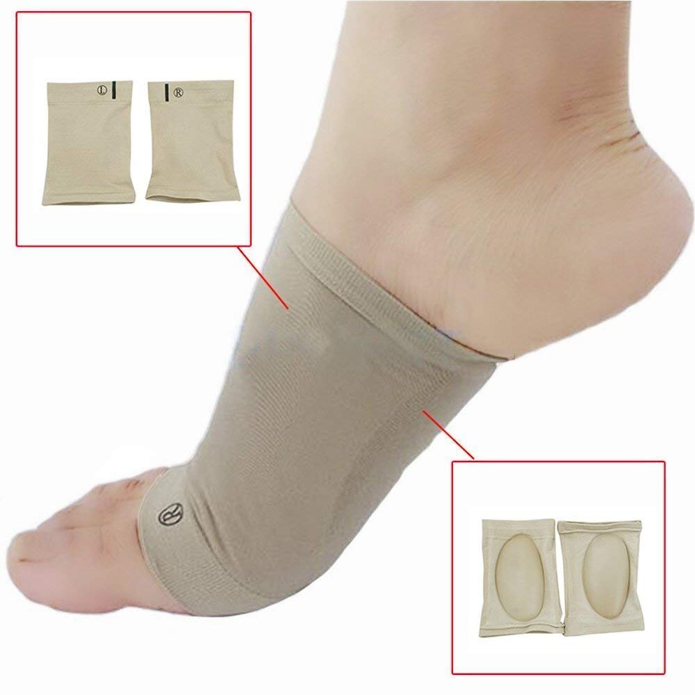7e29cf8f41 Denshine Arch Sleeves Plantar Fasciitis Arch Sleeves Support Brace Orthotic,  1 Pair for Pain Relief