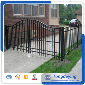 Decorative Royal Vintage Wrought Iron Entrance Gate House Main Gate Simple Iron Gate Designs